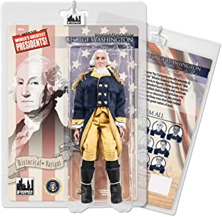 Figures Toy Company US Presidents 8 Inch Action Figures Series: George Washington [Blue & Yellow Suit Variant]