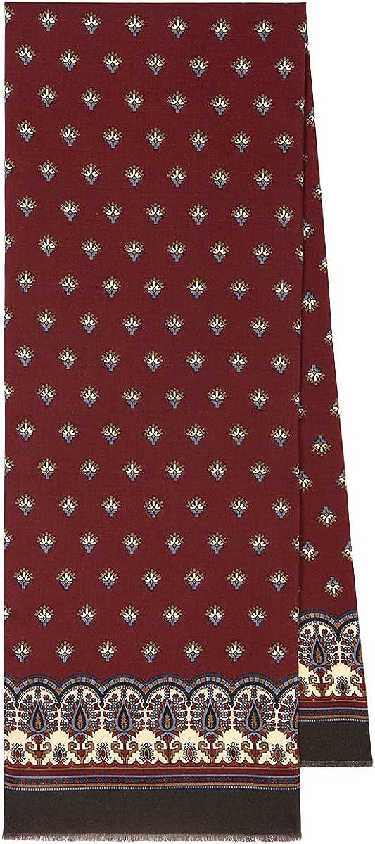 Men's Pavlovo Posad Scarf Russian Tie Cravat Warm Winter 100% Wool 1917-16
