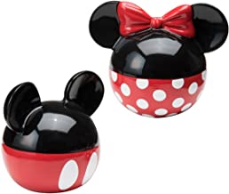 Vandor Disney Mickey and Minnie Mouse Ceramic Salt and Pepper Set, Red/Black