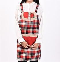 Apron Designs Fashion Apron Home Lattice Apron with Pocket (Red)