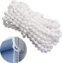 YEQIN Roller and Roman Shade Blind Beaded Chain Cord,White Plastic Roller Blind Chain Repair,Roller Curtain Bead Rope,Blind Beaded Cord for Roller Blind Fitting(10 Yards)