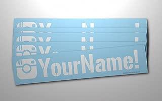 Luke Duke Decals Customized Social Media User Name Large 8