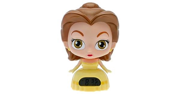 Disney Princess BulbBotz 2020879 Belle Beauty and The Beast Light Up Alarm Clock