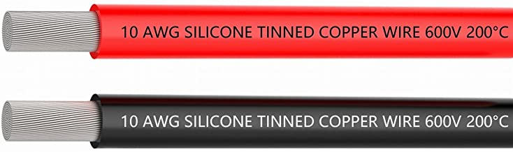 TUOFENG 10 AWG Silicone Wire 20 Feet [10 Feet Black and 10 Feet Red] 10 Gauge Stranded Wire - Ultra Flexible Tinned Copper Wire High Temperature Resistance