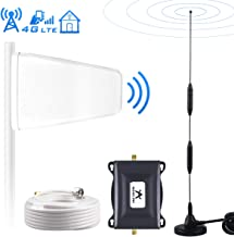 Verizon Cell Phone Signal Booster Amplifier for Home 4G LTE Cell Signal Booster 700Mhz FDD Band13 Mobile Phone Signal Booster Sucker+LPDA Antennas, Boosts 4G LTE Data&Voice, Covers up to 2000 sq ft