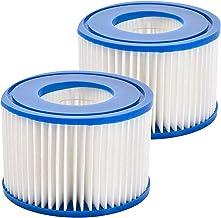 Cartucho de filtro de bomba de piscina inflable plegable de 2 piezas compatible con accesorios para bombas de piscina tipo VI Bestway FD2134