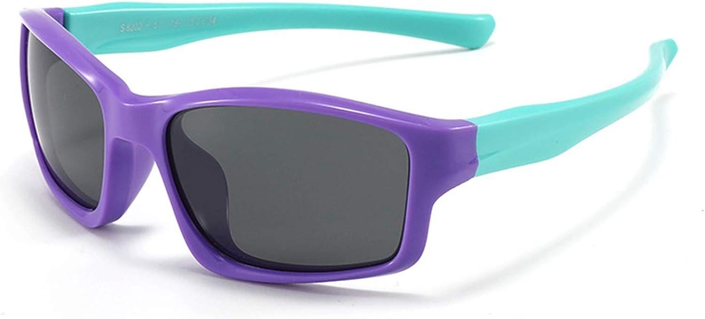Gafas de sol para ni/ños y ni/ñas de 3 a 12 a/ños Gafas de sol polarizadas flexibles de goma para ni/ños A prueba de golpes Seguro Ligero y c/ómodo