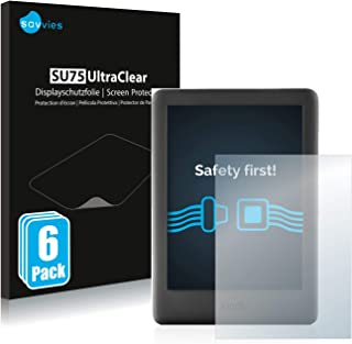 Savvies 6x Schermbeschermer compatibel met Amazon Kindle 2019 (10. Generatie) Screenprotector ultra transparant