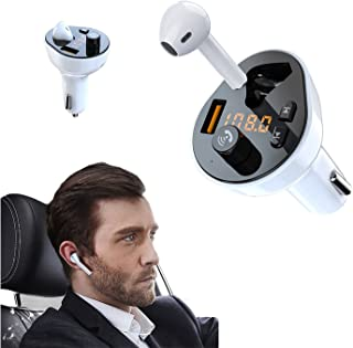 $42 » Sponsored Ad - Handsfree Call Car Charger with Bluetooth Headset,Wireless Bluetooth FM Transmitter Radio Receiver,Mp3 Audi...