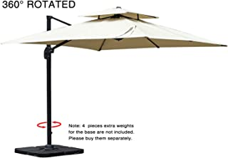 Best square outdoor umbrella cantilever Reviews