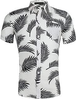 Nuewofally Mens Casual Striped Long Sleeve Shirt Crew Mandarin Collar Henley Shirts Button Up Baggy Cotton Linen Blouse (Khaki,L)