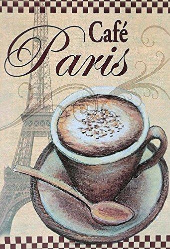 Schatzmix Blechschild Kaffee Cafe Paris Metallschild Wanddeko 20x30 cm tin Sign