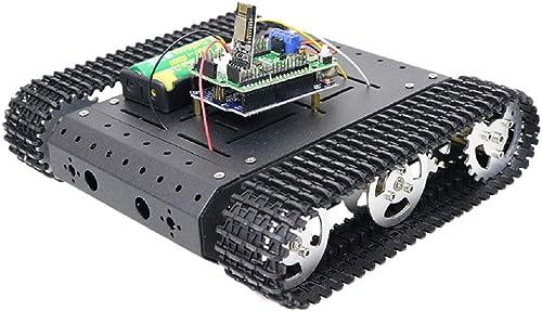 F Fityle Wifi Panzer Chassis Roboter Plattform Auto Fahrgestell für Arduino, ca. 250 x 215 x 55 mm - 33GB-520 Motor