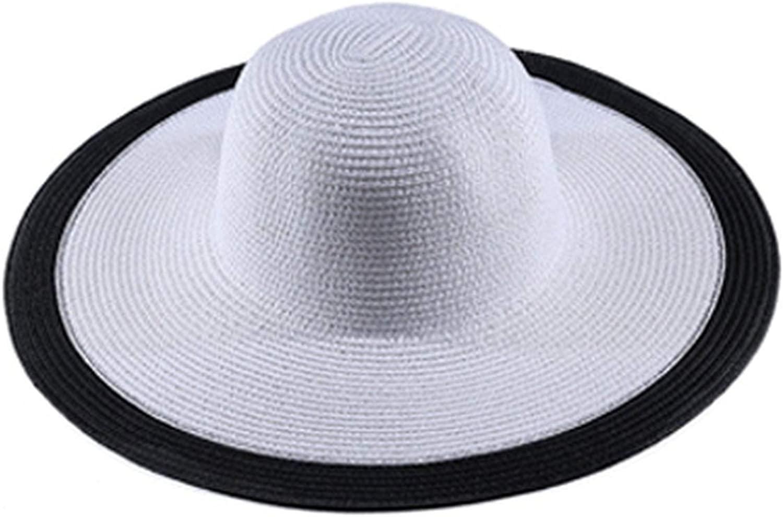 Women Foldable Sun Hat Wide Large Brim Beach Sun Hat Straw Beach Cap Ladies Eleg,