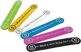 Aosnow 万能クリップ マジネットクリップ ケーブル&イヤホンとめ 携帯置き マネークリップ 磁石 (6色セット)