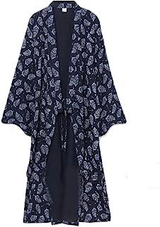 FANCY PUMPKIN Men's Yukata Robes Kimono Robe Khan Steamed Clothing Pajamas #07