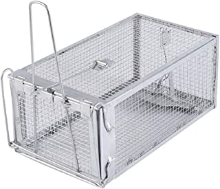 Outdoor/Indoor Rat Trap Box Humane Rat Trap Live Rat Cage Trap for Rats Mice Chipmunks and Other Similar-Sized Rodents Mou...