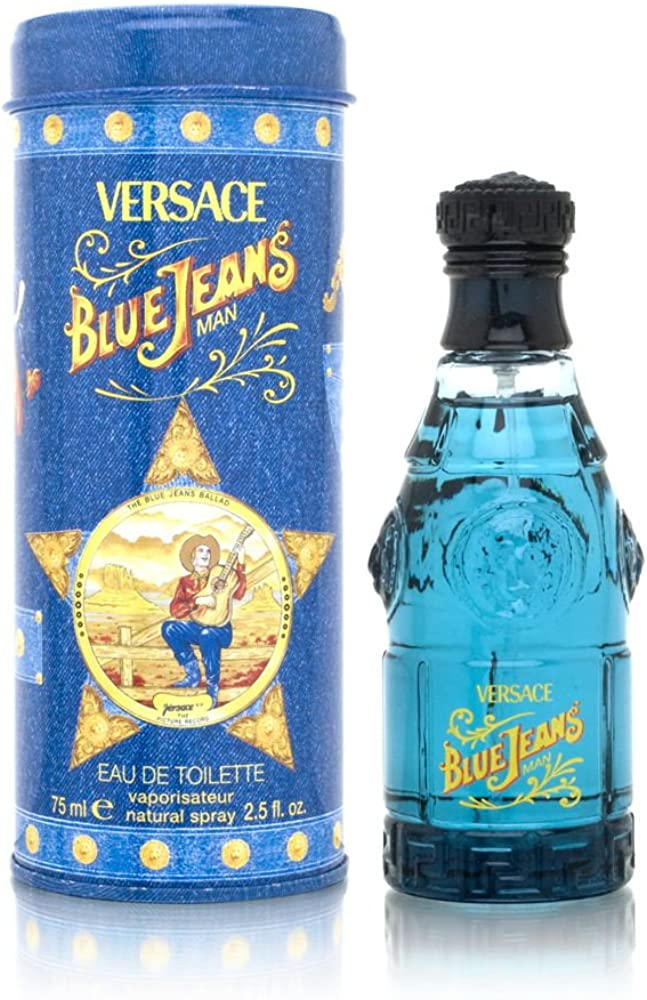 Gianni versace blue jeans eau de toilette,uomo, 75 ml 118108
