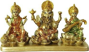 BangBangDa Hinduism Lakshmi Ganesha Saraswati Statue - Hindu Laxmi Ganesh Home Temple Pooja Mandir - Indian Murti Puja Dec...