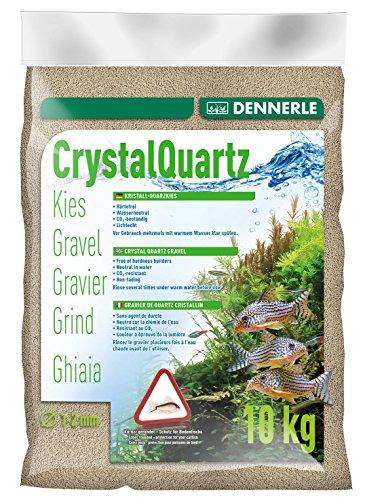 Dennerle Aquarienkies Naturweiß 10 kg - Bodengrund für Aquarien - Körnung 1-2 mm