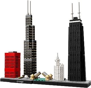 LEGO Architecture Chicago 21033 Skyline Building Blocks Set (444 pieces) (Renewed)