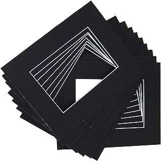 10 of 18x24 Black Pre-cut Acid-free whitecore mat for 13x19 + back+bag