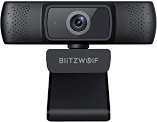 Webcam with Microphone for Desktop, BlitzWolf HD Webcam 1080P with Dual Microphone Web Cameras for Computers Live Streamin...
