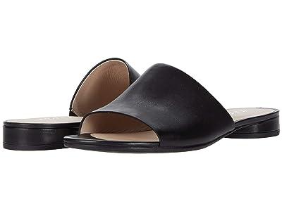 ECCO Flat Sandal II Slide (Black Cow Leather) Women