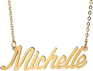 Custom Name Necklace Personalized Initial Necklaces in Golden Silver