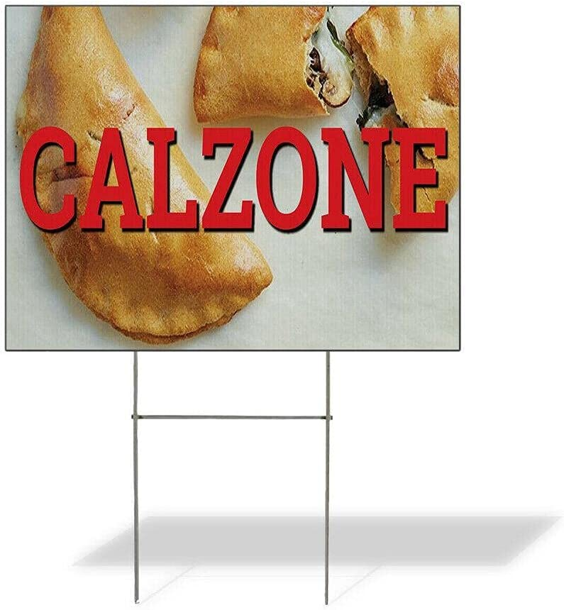 Size 12inx18in One Limited time for free shipping Side Print Yard Calzone Weatherproof Sign Res Max 86% OFF