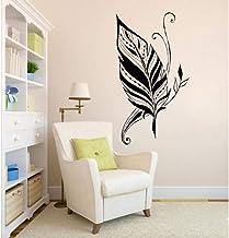 Pluma Silueta Dormitorio Papel Tapiz Sala De Estar Arte Pared Calcomanía Extraíble Adhesivo De Vinilo Pegatina Mural 36X56Cm