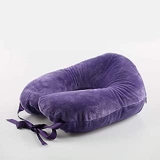 U-Shaped Pillow Natural Latex Neck Protector NAP Travel Pillow Cervical Pillow Pillow Pillow U-Shaped Neck Pillow QYLOZ (Color : Purple)