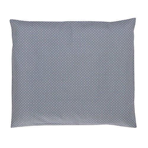 ULLENBOOM ® Baby Kissenbezug 35x40 cm Grau (Made in EU) - Kopfkissenbezug aus 100% OEKO-TEX ® Baumwolle, bequeme Kissenhülle für Baby Kissen, Motiv: Punkte
