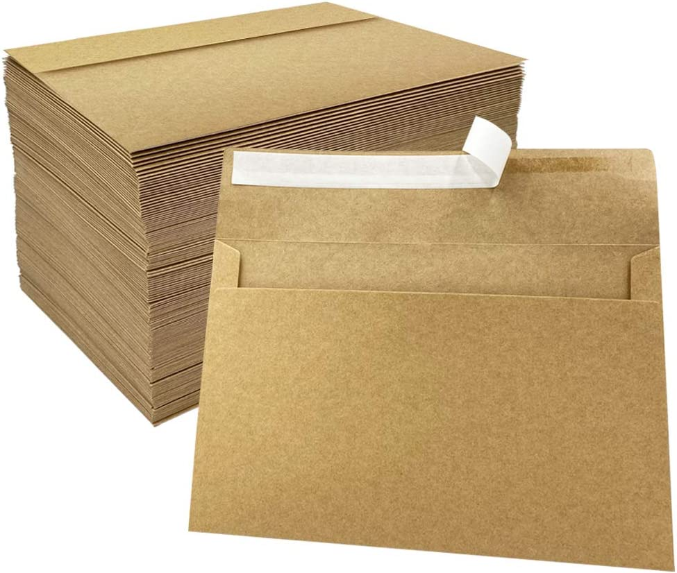 JOLLY SWEETS 150pcs Brown Kraft For Pape Ranking TOP8 Envelopes A7 Las Vegas Mall Invitation