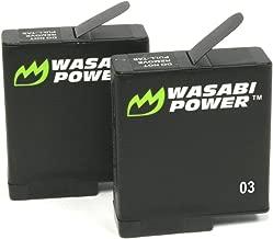 Wasabi Power Battery (2-Pack) for GoPro HERO6, HERO5, HERO 6, HERO 5 Black (v03 for all Firmware Updates) (2 Batteries (v03))