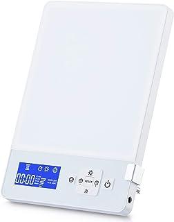 Aourow Lámpara de Luz Diurna LED 10000 Lux,Blanca Fría,Lámparas de Luz Diurna con Brillo Ajustables con Temporizador y Pantalla,Color Doble Azul y Blanco,Aumento de Energía Lámpara de Escritorio