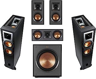 Klipsch 2 Pack R-26FA Dolby Atmos Speaker - BundleWith R-41M Bookshelf Home Speakers, R-52C Center Channel Home Speaker, R...