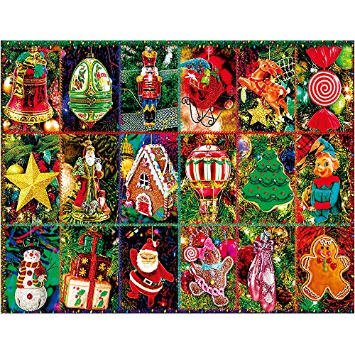 1000 Piece Puzzles for Adults Kids Jigsaw Puzzle - Festive Ornaments Christmas Puzzles 1000 Piece for Kids Education Toys Game Merry Puzzles
