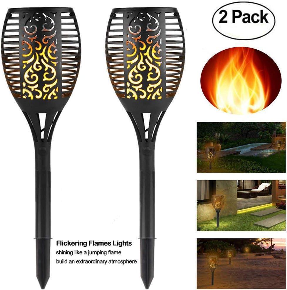TOPCHANCES 96LED Regular dealer Our shop most popular Solar Lights 2 Waterproof Effect Pack Flame Li