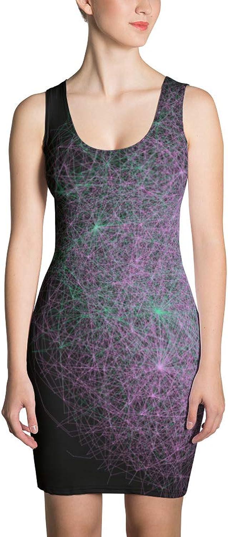 GeoPattern Taraxacai Cosmology Sublimation Cut & Sew Dress