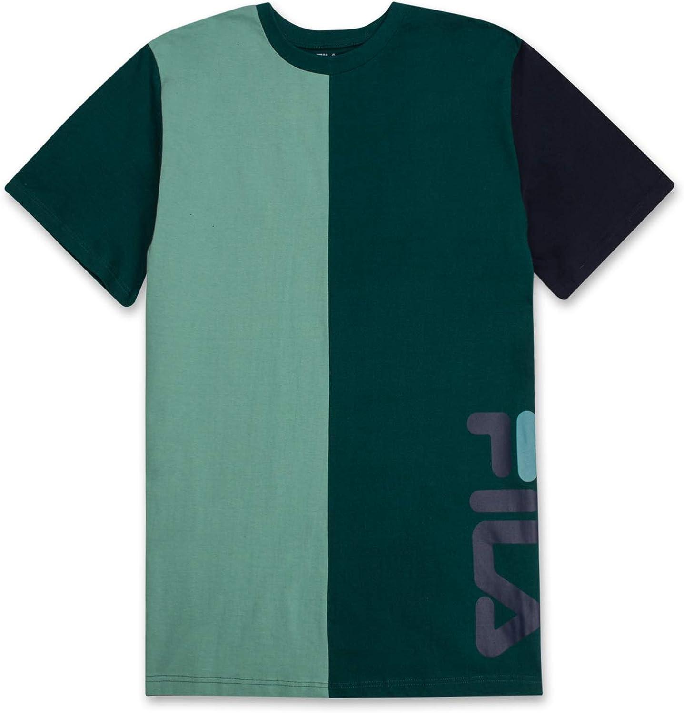 Fila Award-winning store Men Big and Tall Print Sh Shirt Short Sleeve Crewneck 55% OFF T