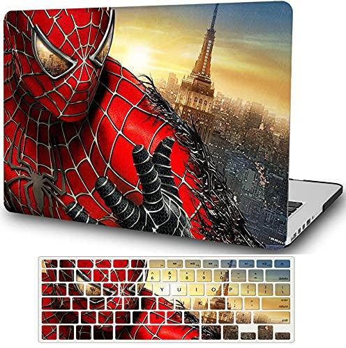 """Super Hero Coque en plastique rigide compatible avec MacBook 12"""" avec écran Retina (modèle A1534, version 2017 2016 2015) Anime Cartoon Shell Cover avec clavier Cover YXUAN- Spider Man"""