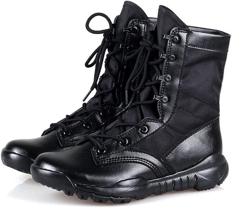 XIE Unisex-Adult Unisex-Adult Unisex-Adult Flat Heel Atmungsaktive Kampfstiefel Sehr Leichte Armee Stiefel Outdoor Desert Tactical Stiefel Ledernaht  449070