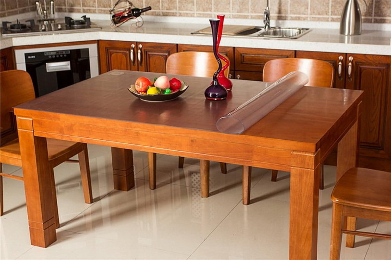 Tablecloths DE Pvc tischdecke,wasserdicht einweg weichglas tuch,european-style couchtisch kristall teller pad-B 80x135cm(31x53inch)