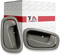 T1A Front or Rear Left Driver and Right Passenger Sides Interior Door Handle Replacements for 1998-2002 Toyota Corolla and Chevy Prizm, Gray Color, T1A-69206-02050/69205-02050-GRAY