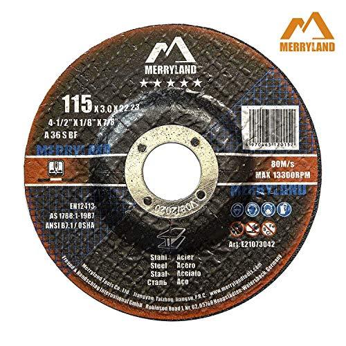 Merryland 115 X 3,0 Experto-line Disco de Corte para Acero Metal 25PCS