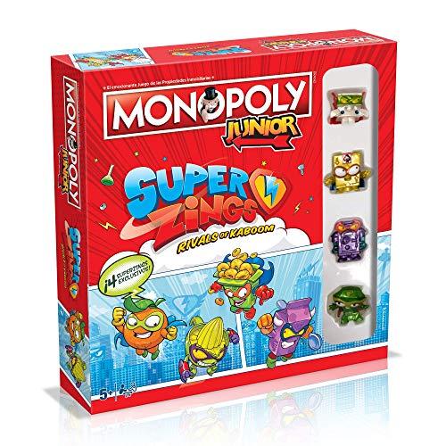 Monopoly Junior SuperZings - Juego de Mesa - Versión en español