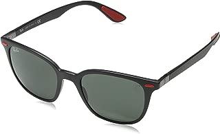 Men's RB4297M Sunglasses,51mm,Matte Black/Dark Green