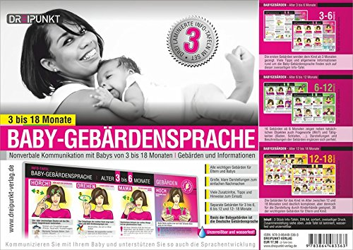 Info-Tafel-Set Baby-Gebärdensprache: Informationen zur Baby-Gebärdensprache und Baby-Gebärden für Babys im Alter von 3 bis 18 Monaten.