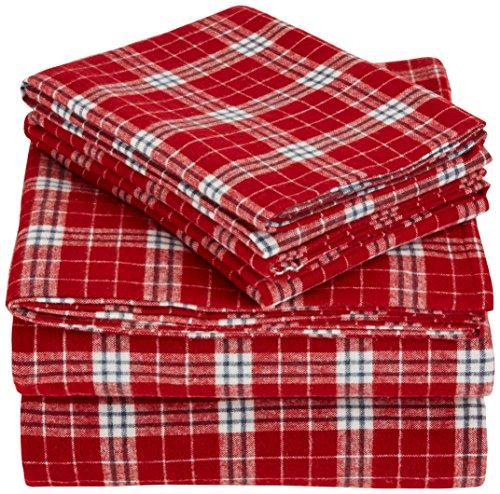 Pinzon Plaid Flannel Bed Sheet Set